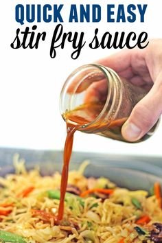 This easy stir fry sauce is perfect for making veggie chow mein, vegan yakisoba, or a vegetable stir fry and ready in just a couple of minutes. // Rhubarbarians // Vegetarian stir fry / recipes for two recipes fry recipes Stir Fry Recipes, Sauce Recipes, Cooking Recipes, Best Stir Fry Recipe, Vegan Stir Fry, Healthy Stir Fry Sauce, Simple Stir Fry Sauce, Chicken Stir Fry Sauce, Stir Fry Noodle Sauce