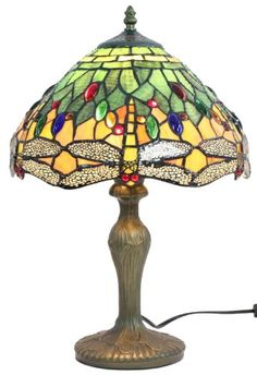 Save on Amora Lighting Tiffany Style Dragonfly Design Table Lamp 18 inch Tiffany Dragonfly Design Table Lamp and Stained Glass Table Lamps, Stained Table, Cheap Table Lamps, Table Lamps For Bedroom, Leaded Glass, Mosaic Glass, Tiffany Style Table Lamps, Tiffany Lamps, Custom Stained Glass