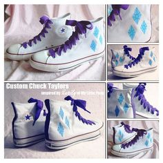 66eb0c14d2872e My Little Pony Friendship is Magic Rarity Cutie Mark Custom Chuck Taylors  Converse Tennis Shoes by NellaNell.