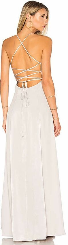 3fd21862b97 Shop for House of Harlow 1960 x REVOLVE Heidi Maxi in Silver at REVOLVE.