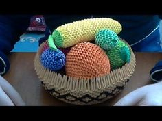 ▶ How to make 3D Origami fruit basket . - YouTube