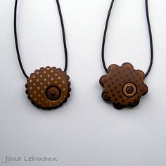 New Pendants - Brown Dots | Flickr - Photo Sharing!