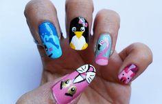 Diseños de uñas con animales e insectos, diseños de uñas con animales.   #uñasdecoradas #nailsCLUB #uñasdiscretas