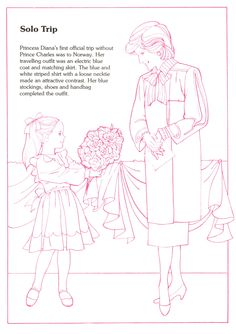 Princess Diana Fashion Collection Book 4 Social Studies Culture Historical Figures British Royal Family Coloring Page
