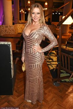 Carol's Bum - The Carol Vorderman Fan Site: Carol Vorderman - National Television Awards (NTAs) in London January 2017 Beautiful Women Over 50, Beautiful Old Woman, Sexy Older Women, Old Women, Sexy Women, Carol Vordeman, Gold Gown, Voluptuous Women, Lady