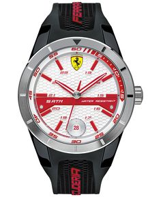 96fde06ae39 Scuderia Ferrari Men s RedRev T Black Silicone Strap Watch 44mm 830250 -  Watches - Jewelry   · Acessórios MasculinosRelógios ...