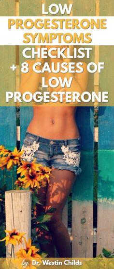 Low progesterone symptoms pinterest image