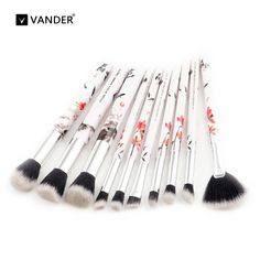 Vander 10pcs Ink Painting Makeup Brush Kits Tools Make-up Brand Styling Face Lip Powder Beauty Essentials Brushes Cosmetic Kits