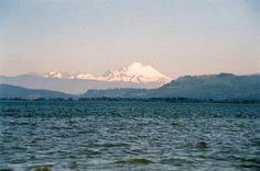 View of Mount Baker from Camano Island
