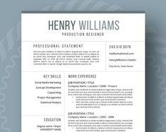 Resume Templates Modern Resume Template for Word Page Resume Cover Student Resume Template, Modern Resume Template, Resume Template Free, Creative Resume Templates, Templates Free, Blogger Templates, Resume Skills, Resume Tips, Free Resume Examples