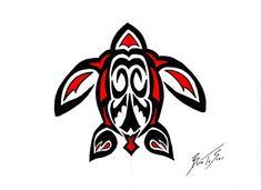 PNW native art turtle