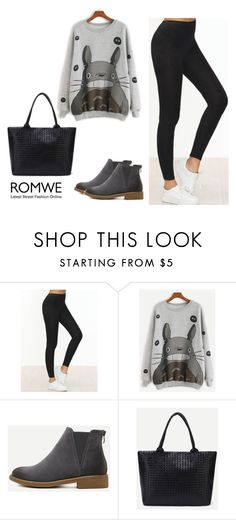 """""""ROMWE - 8/4"""" by thefashion007 ❤ liked on Polyvore"""
