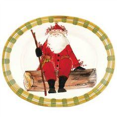 Vietri Old St Nick Oval Platter
