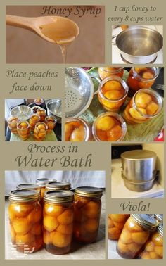 Canning Peaches with HONEY syrup