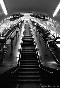 London Underground. Some of the stations have some very long escalators.