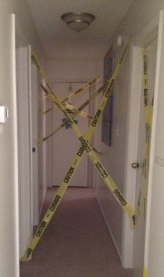 Good way to keep guests in the social spaces during a walking dead party