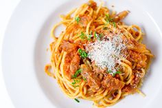 Pasta Amatriciana by [ No Recipes ] Pasta Amatriciana, Greek Recipes, Italian Recipes, Italian Foods, Stewed Tomatoes, Cooking School, What's Cooking, Easy Delicious Recipes, Cooking