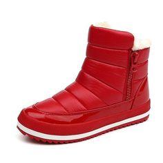 YAERNI Women Boots 2017 Warm Winter Boots Women Ankle Botas Cotton  Waterproof Winter Shoes Ботильйони e751ba7785f44