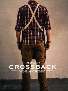 The new Crossback Apron from Butcher & Baker @ www.butcherandbaker.com We've designed an apron that takes the stress and strain from your neck and back with four points of adjustment to provide a true fit for any size. Set the adjustment and it fits perfectly to you every time, without the bother of tying straps. Easy to put on and easy to remove.