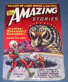 Amazing Stories  Feb 1939  Pulp Magazine  Great Cover  High Grade