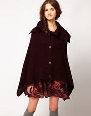 Twist & Tango Knit Cape Red
