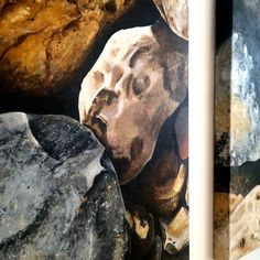 """mariacelesteart: """" pedras no caminho Acrílico s/tela MariaCeleste Art /2016 """"Pedras no Caminho"""" Posso ter defeitos, viver ansioso e…"""