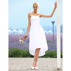 Lanting+Bride®+Krój+A+/+Księżniczka+Drobna+/+Rozmiar+Plus+Suknia+ślubna+-+Szykowne+i+nowoczesne+/+Sukienki+weselne+Krótkie+białe+–+EUR+€+58.79