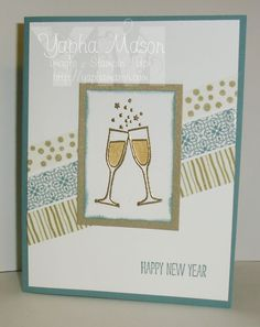 new years toast by yapha mason stampin up holiday catalog new years washi tape making spirits bright