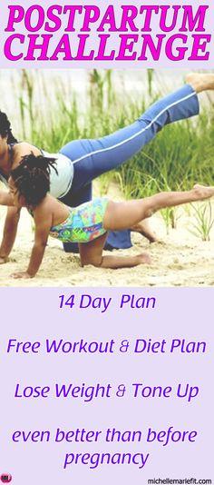 14DayPostpartumWeightLossPlanHomeWorkouts&Diet{FREE)