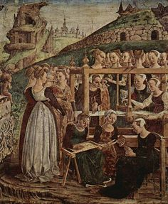 Image result for italian fresco 1400 portrait woman
