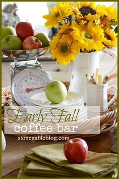 Coffee Bar... a yummy way to feed overnight guest and family