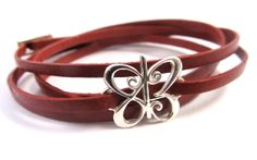 I Love You Leather Wrap Bracelet  Classic  813 by OneMeaning, $100.00