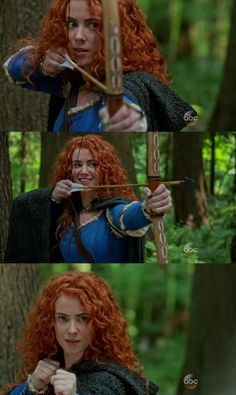 Once Upon a Time S05E01 - The Dark Swan - Merida *-*  First Pixar character in OUAT! :D