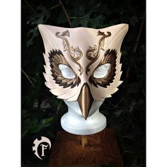 Venitian Owl leather mask, masquerade, masque, cuir, fantasy, costume,... (€155) ❤ liked on Polyvore featuring costumes, mask, owl halloween costume, masquerade halloween costumes, owl costume, masquerade costume and cosplay costumes