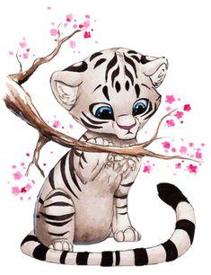 8 Meilleures Images Du Tableau Dessin De Tigre Dessin