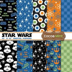 Star Wars Digital Papers by cocoamint on Etsy