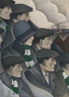 Celtic The Crowd Ltd Edition Print by Paine Proffitt