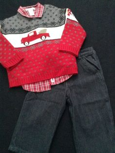 Janie and Jack Holiday Outfit 18-24 Months #JanieandJack #Holiday