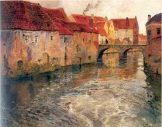 Frits Thaulow (1847-1906) Norwegian Painter known for the look of his slow moving water--