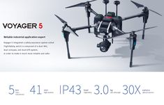 Reliable industrial application expert Voyager 5 integrated a safety assurance system called FlightSafety, which is composed of a dual IMU, dual compass, and dual GPS system, in order to make it much more reliable and safer. Drone With Hd Camera, Professional Drone, Drone Quadcopter, 4k Hd, Compass, Safety, Industrial, Security Guard, Industrial Music