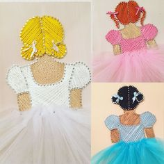 String Art Templates, String Art Patterns, Nail String Art, String Crafts, Textile Design, Textile Art, Diy And Crafts, Arts And Crafts, Ballet Art