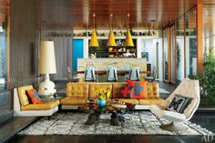 Mustard, teal and a groovy interior for this ... | architecture & des ...