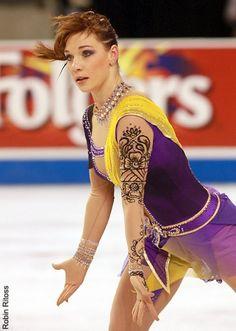Alena Leonova -Purple/Lilac Figure Skating / Ice Skating dress inspiration for Sk8 Gr8 Designs.