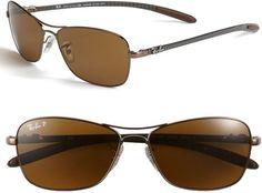 454ceb29dbc Ray-ban Polarized Aviator Sunglasses in Brown (brown polarized) - Lyst Ray  Ban