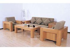 Simple Wooden Sofa Set Design For Minimalist Living Room Part 14
