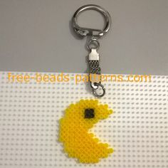 Pacman keychain work photos Hama Beads author site user Bill (5)