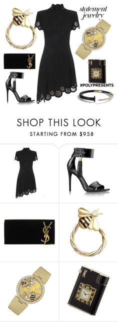 """""""#PolyPresents: Statement Jewelry"""" by ellenfischerbeauty ❤ liked on Polyvore featuring Versus, Yves Saint Laurent and Cartier"""