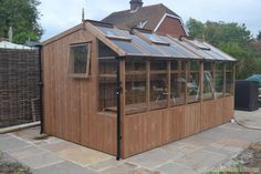 New for 2012, the 8ft x 12ft Swallow Rook Potting Shed 2900 GBP , 2,6x3,8 m