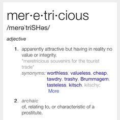 Meretricious a lot of deez bad bitches round here Unusual Words, Rare Words, Unique Words, New Words, Fancy Words, Cool Words, Definition Quotes, Good Vocabulary, Foreign Words