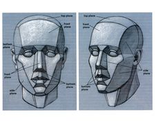 Anatomy — anatoref: Planes of the Face Row 1 Row Basic Drawing, Drawing Lessons, Drawing Techniques, Life Drawing, Drawing Heads, Painting & Drawing, Art Drawings, Anatomy Drawing, Anatomy Art